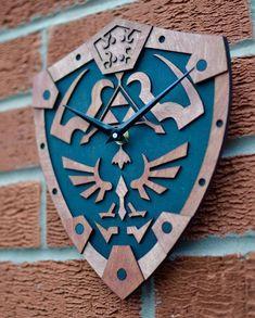 The Legend of Zelda inspired wall clock * Hylian shield * Ocarina of time wall decoration plaque Legend of Zelda inspired wall clock by HamsterCheeksStore on Etsy The Legend Of Zelda, 3d Laser Printer, Geek Room, Nerd Cave, Man Cave, Geek Decor, Geek Culture, Home Decor Items, Geeks