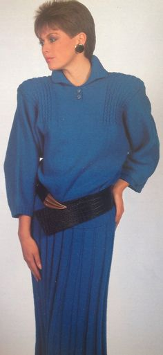 3b8996b272b5ac Items similar to Ladies Woman s Girls DK Sweater Jumper Pullover   Skirt Knitting  Pattern Size 30-40in 76-10cm on Etsy