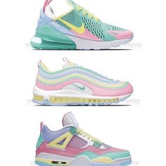 Not the middle ones Air Max 97, Nike Air Max, 90s Sneakers, Rainbow Sneakers, Estilo Nike, Baskets, School Shoes, Pretty Shoes, Custom Shoes