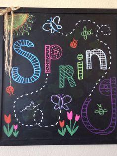 Spring Chalkboard Art 13