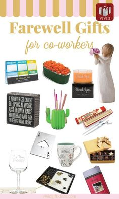 These farewell gifts are perfect for coworkers who are leaving the company for another company or for retirement - parting gift ideas for colleagues - office gift ideas Gift For Coworker Leaving, Goodbye Gifts For Coworkers, Gifts For Male Coworkers, Farewell Gift For Coworker, Gifts For Colleagues, Leaving Gifts, Gifts For Boss, Gifts For Him, Teacher Christmas Gifts