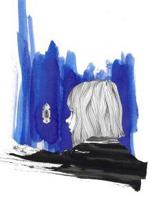 Hanna von Löwenstein hat ihr Schloss noch nie verlassen. Eines Tages will sie das ändern. Illustration: traeumwasschoenes.de / Veronika Grenzebach