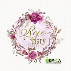 rose logo design watercolor logo photography by stylemesweetdesign