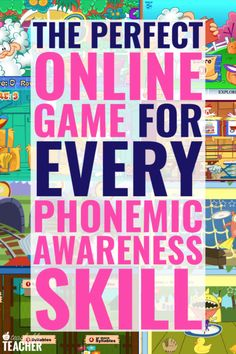 Free online phonemic awareness games provide tons of repetition and practice for new readers after y Teaching Phonics, Phonics Activities, Teaching Resources, Phonics Videos, Jolly Phonics, Interactive Activities, Kindergarten Reading, Teaching Reading, Preschool Kindergarten