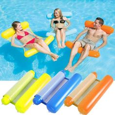 Us 1316 25 Off Inflatable Water Pool Air Mattress Toys For Swimming Foldable Design Dual Use Air Chair Water Mattress Hammock For Swimming Pool In Swimming Pool Toys, Small Swimming Pools, Floating Bed, Floating In Water, Water Hammock, Hammock Bed, Pool Chairs, Dining Chairs, Pool Lounge