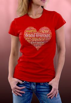 Dental Assistant Word Cloud -  Premium quality tees, tanks and hoodies from BadBananas. Flat rate shipping worldwide.