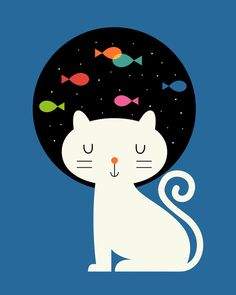 Poster | CATS FANTASY von Andy Westface | more posters at http://moreposter.de