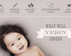 Custom Korean baby girl first birthday dol by LillyLaManch on Etsy