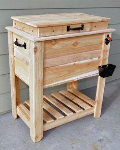 Rustic Cedar Fence Picket Deck/Porch Cooler/Icebox!