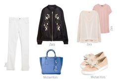look day bomber by ireneconcello on Polyvore featuring Zara and Michael Kors