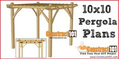 The wooden pergola is a good solution to add beauty to your garden. If you are not ready to spend thousands of dollars for building a cozy pergola then you may devise new strategies of trying out something different so that you can re 10x10 Shed Plans, Lean To Shed Plans, Shed Building Plans, Diy Shed Plans, Coop Plans, Building Ideas, Pergola Plans, Diy Pergola, Greenhouse Plans
