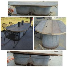 Salvaged Storage Bench From Salvaged Water Trough Covered