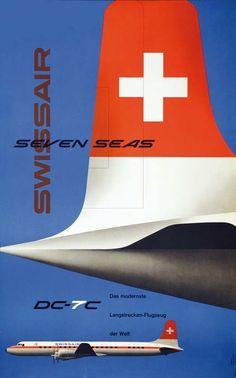 Kurt Wirth  _ Swissair - Seven Seas DC-7C (1956)