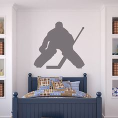 Ice hockey goal keeper hockey wall sticker stadium gym #sport #decor art #decals,  View more on the LINK: 	http://www.zeppy.io/product/gb/2/331950774298/