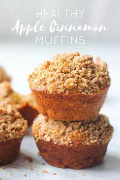 Healthy Apple Cinnamon Muffins, Apple Oatmeal Muffins, Healthy Breakfast Muffins, Oat Muffins, Cinnamon Apples, Breakfast Kids, Breakfast Potatoes, Apple Recipes, Gourmet Recipes