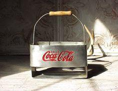 Vintage 1950s Aluminum Coca Cola Drink Carrier by RustySpoke