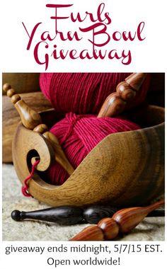 Yarn Bowl Giveaway from Furls Crochet ... enter thru midnight 5/7/15 #crochet #knit #giveaway