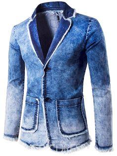 click to buy << luxury brand men 's denim jackets designer spring