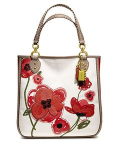 COACH POPPY PLACED FLOWER TOTE - Coach Handbags - Handbags & Accessories - Macy's