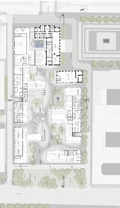 Henning Larsen Architects was recently awarded the international competition for Siemens' new headquarters. The design by Henning Larsen Architects. Healthcare Architecture, Space Architecture, School Architecture, School Floor Plan, Site Plan Design, Modern Small House Design, Architectural Floor Plans, Henning Larsen, Architecture Presentation Board