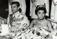 The Shah of Iran,Mohammed Riza with his daughter Princess Shahnaz of his first wife,the late Princess Fawzia of Egypt.