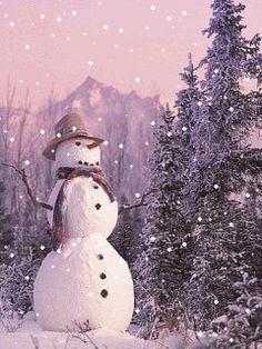 ❄️ SNOWMAN WINTER SNOW GIF ❄️