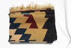 Vintage Rug, Handmade Native Wool Rug; Industrial Bohemian Rustic Decor by zincfineart on Etsy