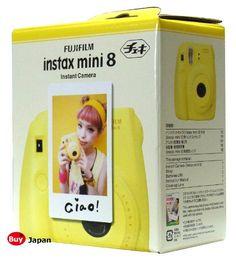 New Model Fuji Instax 8 Color Yellow Fujifilm Instax Mini 8 Instant Camera + 50 Films