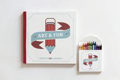 ART , book for children by Maria Szczodrowska, via Behance