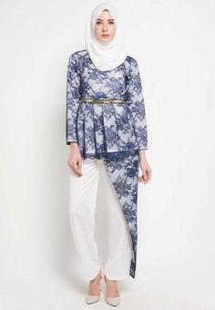 blus batik modern terbaru · Gaun Muslim da3575395a