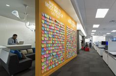 Post-It Wall. Mainly like the idea of having topics to respond to, maybe we find a way where we could change the questions every couple months. Temporary vs permanent