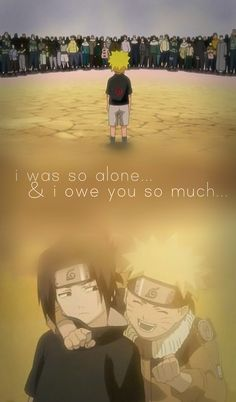 This is one of the first bonds I've ever had. #naruto #sasuke