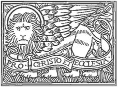 """The winged lion is the symbol of St. Mark, the patron saint of Venice.St. Mark is associated w/the lion because he described the voice ofJohn the Baptist as sounding like a roaring lion. The lion symbol waslater depicted w/wings 'cuz of a vision in which Ezekial saw fourwinged creatures """"And every one had four faces: the first face was the face of a cherub,and the second face was the face of a man, and the third the face of alion, and the fourth the face of an eagle."""" Ezekiel 10:14."""