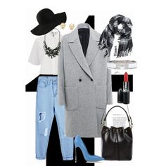 EDUO studio by gaojuan on Polyvore featuring T By Alexander Wang, MSGM, Casadei, Yves Saint Laurent, Hermès, Tiffany & Co., H&M and MAC Cosmetics
