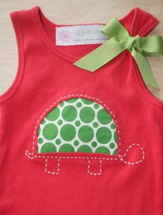 cute reverse applique