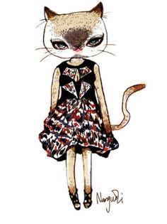 lovely cat illustration