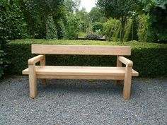 Back Bench With Arms Constructed from naturally durable locally sourced green oak and sawn by our local mill to ensure a top quality timber Planter Bench, Patio Bench, Garden Bench Seat, Deck Benches, Garden Furniture, Outdoor Furniture, Outdoor Decor, Bespoke Furniture, Furniture Design