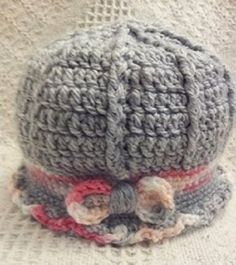 Crochet Pattern For Baby Hat Size Preemie to 3 by alcarrico32, $4.99  Instant Download