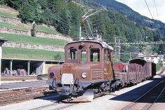 Trains des RhB (ligne de la Bernina) (Suisse)