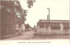 Entrée principale Usine Durenne SOMMEVOIRE fonderie d art CPA sépia années 1920