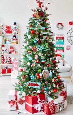 Aqua cherry Christmas tree