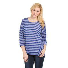 Women's Haggar® Slubbed Striped Scoopneck Top, Size: