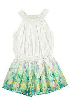 Vestido de niña con falda pantalón color blanco Mayoral