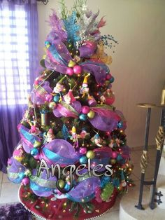 1000 images about navidad on pinterest corona ideas for Como decorar un pino de navidad