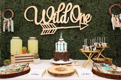Wild One Themed Birthday Party from M&J Kreations are modern, stylish and picture-perfect! Die lustigen Boho-Details in dieser Wild One Themed Birthday Party von M One Year Birthday, Wild One Birthday Party, First Birthday Themes, Boy First Birthday, Boy Birthday Parties, Birthday Ideas, Baby Shower, Bridal Shower, Bohemian Birthday Party