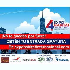 Ya falta poco para que el evento inmobiliario y de inversiones más importante se lleve a cabo en el @eurobuilding ¿Te lo vas a perder? ¡No te quedes por fuera! Ingresa en nuestra página y obtén tu entrada gratuita.  #ExpoHabitat #4taExpoHabitatInternacional #realstatement #realtor #broker #realty #venezuelarealry #bienesraices #inversiones #proyectos #inmobiliario #venezuela #miami #panama #elcaribe #norteamerica #latam