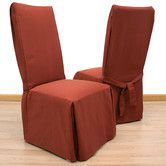 Found it at Wayfair - Elegant Ribbed Dining Chair Slipcover
