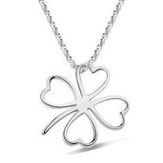 sterling 925 silver lovely clover necklace sterling silver necklaces & pendants