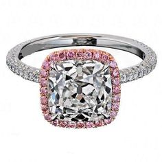 Add a pop of #pink to your #engagement ring!