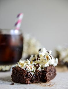 {WHAT} Buttered Popcorn Crunch Brownies | How Sweet It Is